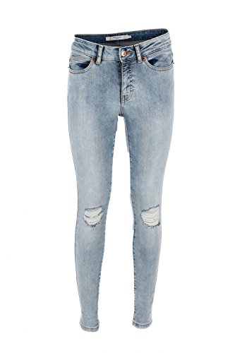 sl Vero Denim Noos Blue Ct198 light Blau Nw Donna Su Jeans Knee D Moda Vmseven OzrzwnI6f