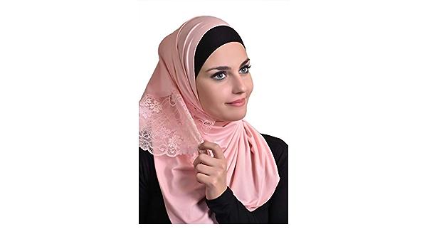 Maxi Plain Women Scarf Crochet Flower Eyelash Lace Muslim Hijab Islamic Wraps