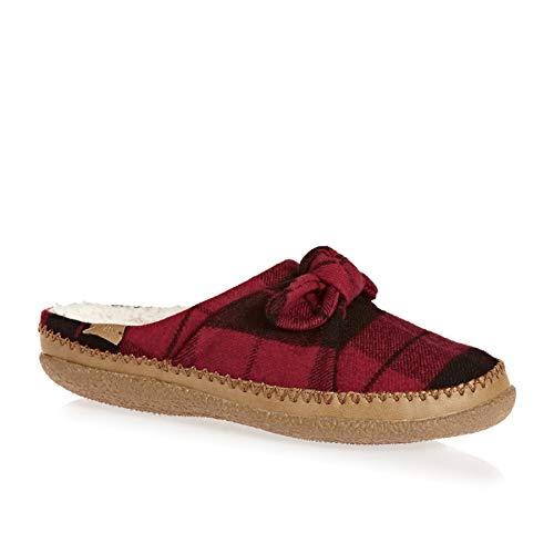 - TOMS Women's Ivy Polyester Slipper (9 M US, Red Plaid Felt/Bow)