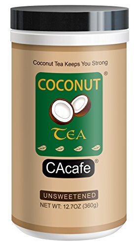 Coconut Tea Unsweetened, instant style green tea with REAL coconut, No Sugar Added, 12.7oz, 18 servings by NewNew Foods