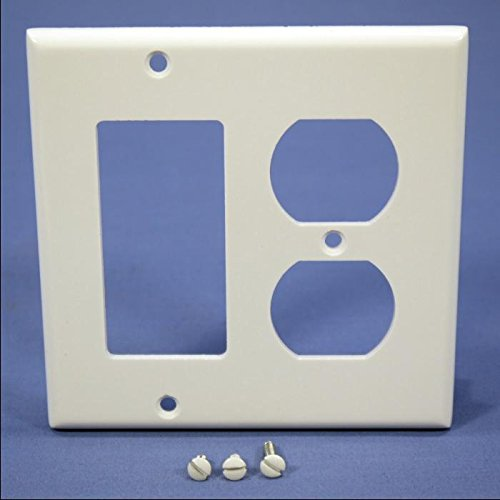 Leviton 80455-W 2-Gang 1-Duplex 1-Decora/GFCI Device Combina