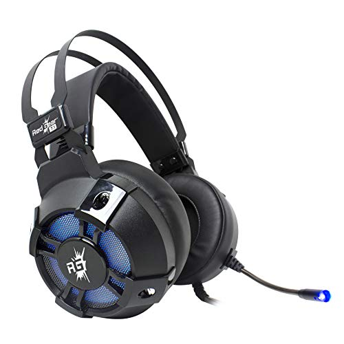 Redgear Cosmo 7.1 USB Gaming Headphones with RGB LED Effect, Mic and in-line Controller for PC