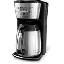 Black & Decker CM2036SC 12-Cup Thermal Coffeemaker, Black/Silver