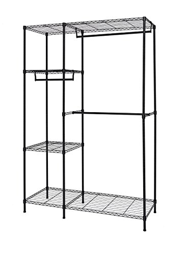finnhomy heavy duty wire shelving garment rack for closet
