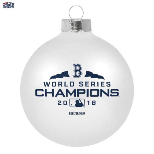 Boston Red Sox 2018 World Series Champions Large Glass Ball Ornament