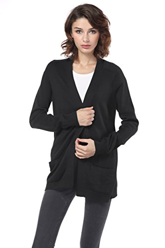 Knitbest Women's Long Boyfriend Pocket C - Cotton Long Cardigan Shopping Results