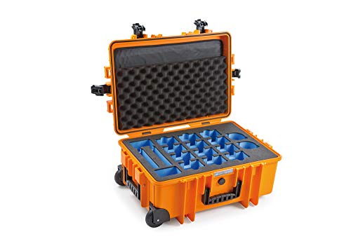B&W Outdoor.Cases Type 6700 with DJI TB50/55 Inlay Case for up to 12 DJI TB50 or DJI TB 55 Batteries - The Original (Tb Battery Pack)