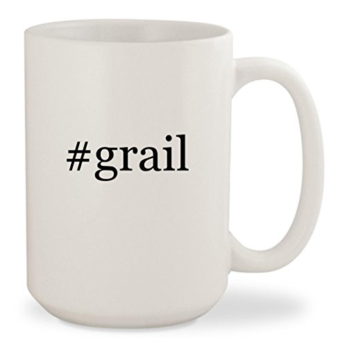 #grail - White Hashtag 15oz Ceramic Coffee Mug Cup