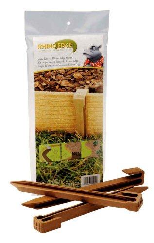 Master Mark Plastics 99205 Rhino Edge Landscape Edging Install Stakes - 5  Pack Cedar