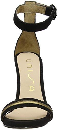 Unisa Wayana_KS_LMT, Sandali con Cinturino Alla Caviglia Donna Multicolore (Blk/Blond)
