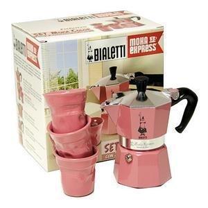 Italian Coffee Maker Argos : Bialetti: Moka Express Pink Set - 3 Cup Espresso Maker + 3 Coffee Glasses [ Italian Import ...