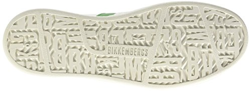 Bikkembergs Bounce 588 L.Shoe M Leather, Scarpe Low-Top Uomo Bianco (White/Green)