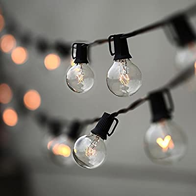 LAMPAT String Lights, 25Ft G40 Globe String Lights with Bulbs-UL Listd for Indoor/Outdoor Commercial Decor