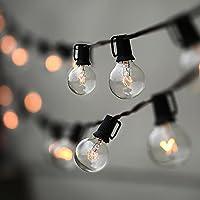 Luces de cadena, Lampat 25Ft G40 Globe Luces de cadena con bombillas-UL Listd para decoración comercial interior /exterior