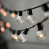 String Lights, Lampat 25Ft G40 Globe String Lights with...