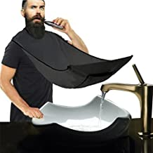 Big Bearded Shaving Bib - Bearded Catcher And Hairpin With Apron, Sucker, Professional Hairdresser From Man Or Woman To Start Trim Their Own Hair. Help Bathroom And Bedroom Clean.White