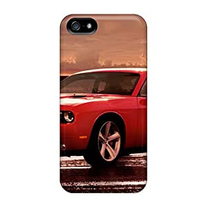 Scratch Resistant Hard Phone Cases For Iphone 5/5s With Customized Fashion Dodge Challenger Pattern DannyLCHEUNG