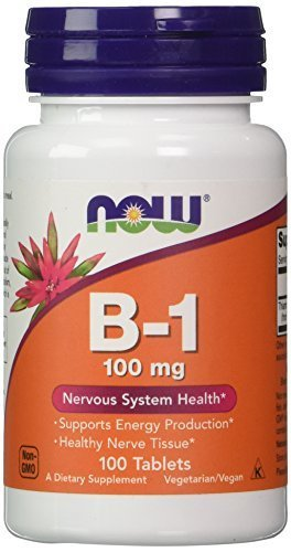 NOW Foods Vitamin B-1 (thiamine), 100 Tablets / 100mg (Pack of 4) by Now Foods