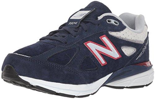 New Balance Boys' 990v4 Sneaker, Blue/Red, 6.5 M US Big Kid by New Balance (Image #1)