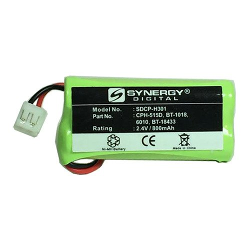 AT&T-Lucent BT8001 Cordless Phone Battery Ni-MH 1X2AAA/D, 2.4 Volt, 800 mAh - Ultra Hi-Capacity - Replacement for Rechargeable ()