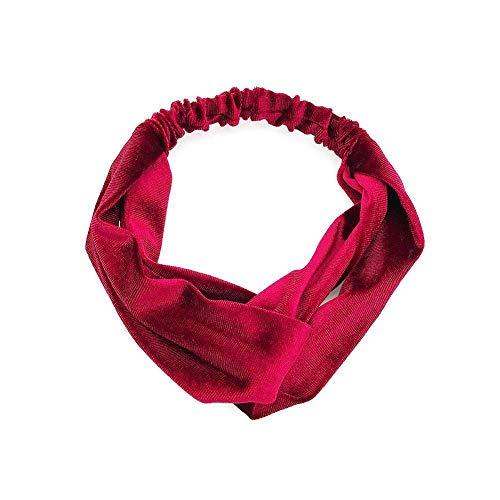 For Women Headband Elastic Head Wrap Hair Band Girls Solid Hair Accessories oc (Color - 04#)