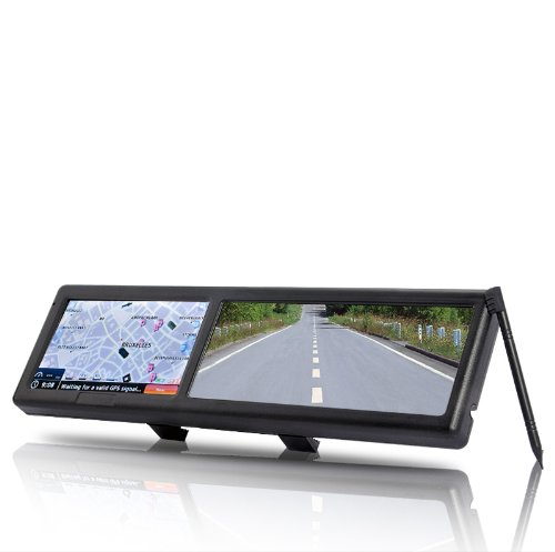 BW Bluetooth Rearview Mirror with Built-in GPS Navigation - Black TR35
