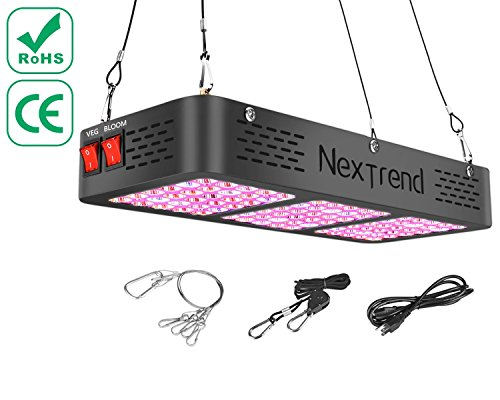 LED Grow Light, NexTrend Double Chips LED 450w Grow Lamp Full Spectrum Grow Light for hydroponics Vegetable Indoor Outdoor Plants with Flower and Veg & Daisy Chain Design