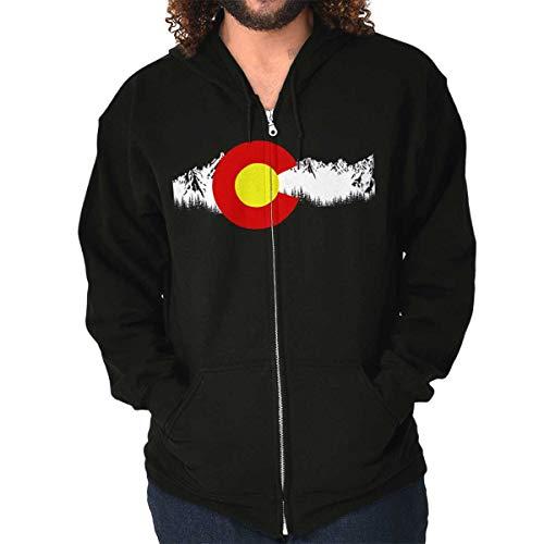 Colorado Flag Rocky Mountain State Pride USA Denver Zip Hoodie Black