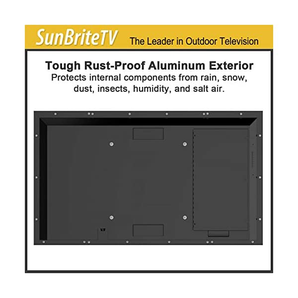 SunBrite 55-Inch Outdoor Television 4K with HDR - Signature 2 Series - for Partial Sun SB-S2-55-4K-BL (55-inch, Black) 5
