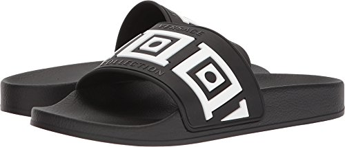 Versace Collection Men's Greca Pool Slide Black 45 M - Collection Versace First