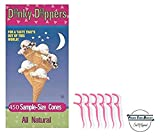 Dinky Dippers Miniature Ice Cream Cones Bulk Pack 450 Count with 20ct Dental Flossers in a Prime Time Direct Sealed Box