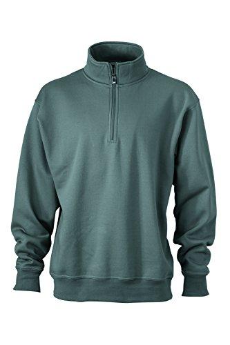 Sweat zip grey Dark Montant Zip Et shirt De 2store24 Travail Avec Demi Col a7daqg