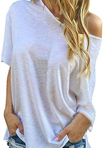 STORTO Women Cold Shoulder Plaid Blouse Long Sleeve Sweatshirt Pullover Tops Shirt