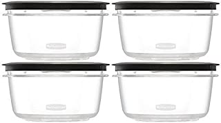 product image for Rubbermaid Premier Food Storage Container, 4 Pack, 5 Cup, Grey