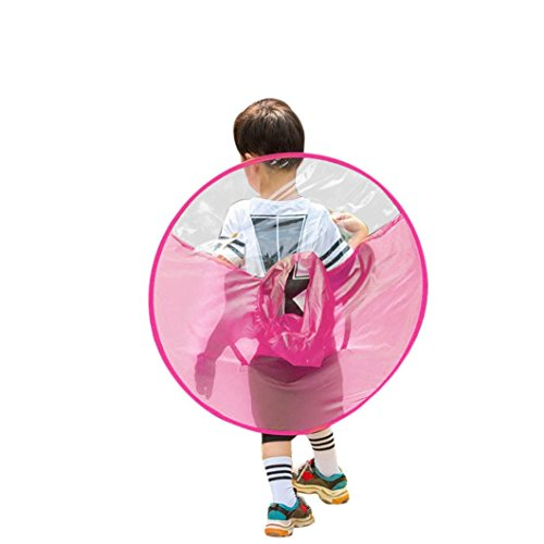 Parapluie Unisexe De Vêtements Adorable Imperméable Portable Rose Pluie Adeshop Enfants Manteau Mains Pliable Imperméables Ufo Réutilisables Chapeau HC4q47x8