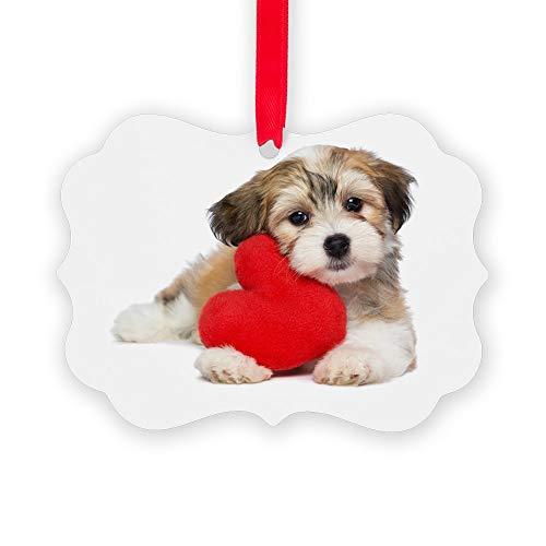 CafePress Lover Valentine Havanese Puppy Christmas Ornament, Decorative Tree Ornament