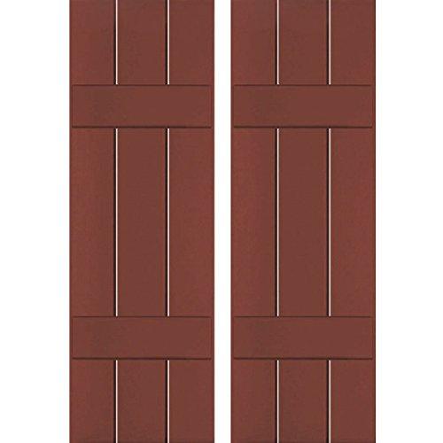 Ekena Millwork RWB12X069RWP Exterior Three Board