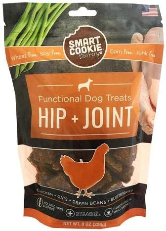 Smart Cookie Chicken Hip Joint Dog Treats, 8Oz Bag