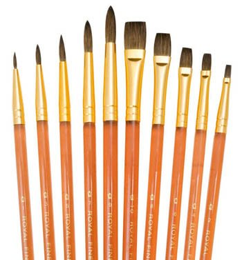 (Royal and Langnickel Sable Super Value Brush Set (1 Pack of 10 brushes ))