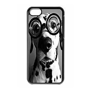 Custom Hipster black dog Plastic Case for iPhone 5c, DIY Hipster black dog Iphone 5C Shell Case, Customized Hipster black dog iPhone 5c Cover Case WANGJING JINDA