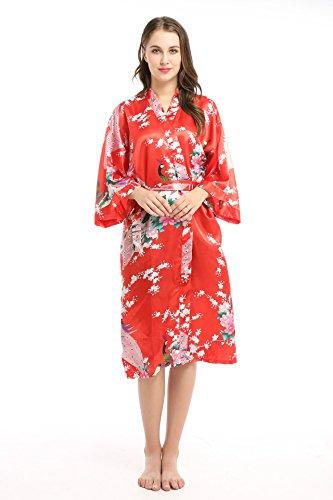 oriental silk dressing gown - 1