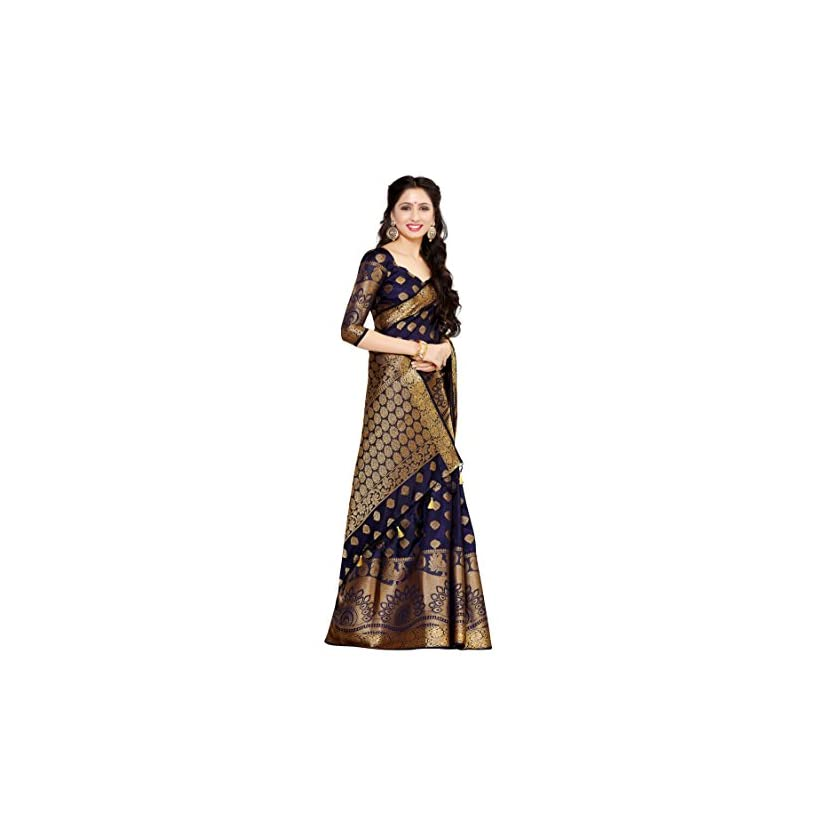 Mimosa Women's Art Silk Saree in India 2020 With Blouse Piece