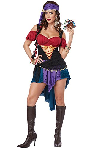 Classic Gypsy Costumes (California Costumes Women's Eye Candy - Exotic Gypsy Adult, Multi, X-Small)