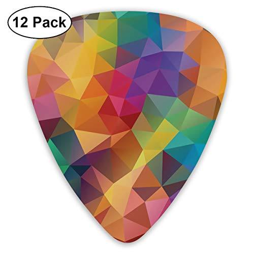 KIMBERLYBLAINE Geometric Patchwork Blocks Diamonds Guitar Picks Premium Picks Sampler Includes Thin, Medium, Heavy Gauges 12 Pack (Kimberly Block)