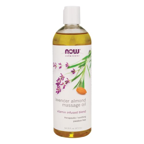 Now Foods Lavender Almond Massage Oil - 16 fl. oz. 3 Pack ()