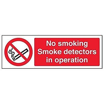 """VSafety 57007AX-R """"No Smoking"""". Señal de detectores de humo en"""