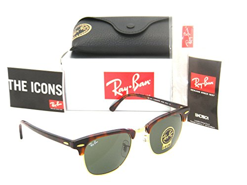 Ray-Ban Authentic Clubmaster RB 3016 W0366 49mm Tortoise Gold / - Ban 49 Ray Size Clubmaster