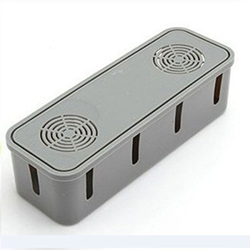 Aprettysunny Power Electric Safety Outlet Board Cables Strip Wire Case Storage Box Container