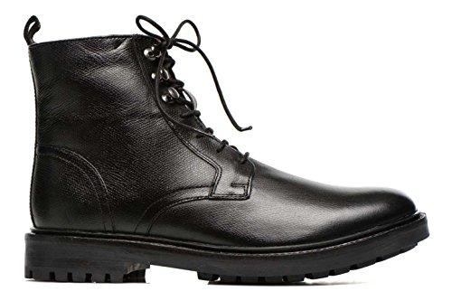 Base London Oxford Derby Brogue Range Of Mens Formal and Informal Leather Lace-UPS Black and Brown Black-Brunel wq361vh