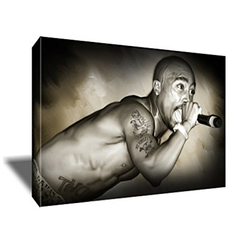 2Pac Tupac Shakur Rap Hip Hop Icon Poster Painting Artwork On Canvas Art Print  36X48 Inches